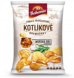 Bohemia Kotlíkové brambůrky Mořská sůl a rozmarýn