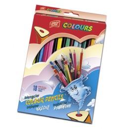 EASY Colours Dřevěné pastelky 16 barev
