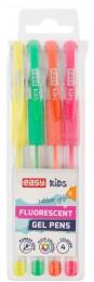 EASY FLUO Gelová fluorescentní pera 4 barvy