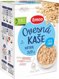 Emco Ovesná kaše natural s -30 % cukru (5x55g)