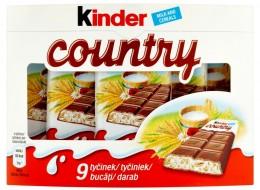 Kinder Country Mléčná čokoláda s mléčnou náplní a obilovinami (9x23,5g)