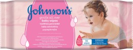 Johnson's Baby Gentle all over dětské vlhčené ubrousky 56 ks