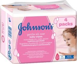 Johnson's Baby Gentle all over dětské vlhčené ubrousky 224 ks