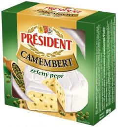 Président Camembert  zelený pepř