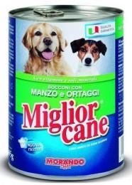 Migliorcane konzerva pro psy hovězí a zelenina