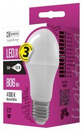 EMOS LED žárovka Classic A60 9W E27 neutrální bílá