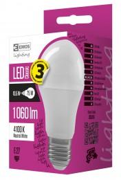 EMOS LED žárovka 10,5W (náhrada 75W), E27, neutrální bílá