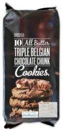 Marks & Spencer Máslové sušenky s kousky belgické čokolády