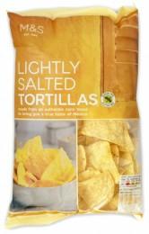 Marks & Spencer Tortilla chipsy kukuřičné mírně solené bezlepkové