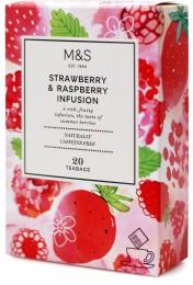 Marks & Spencer Ovocno-bylinný porcovaný čaj s příchutí jahody a maliny