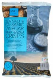 Marks & Spencer Bramborové lupínky s příchutí balzamikového octa a mořskou solí