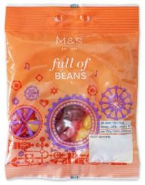 Marks & Spencer Želatinové bonbóny Jelly Beans s ovocnými příchutěmi