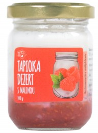 Tapioka dezert s malinou