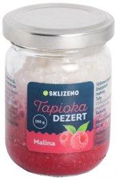 Sklizeno Tapioka dezert s malinou