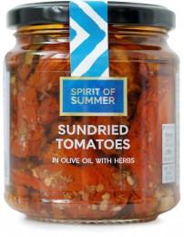 Marks & Spencer Sušená rajčata nakládaná v olivovém oleji (43%) s česnekem a bylinkami