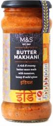 Marks & Spencer Omáčka Butter Makhani - mírně pálivá krémová rajčatová omáčka se smetanou
