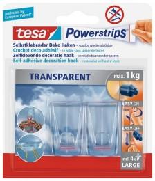 Tesa Powerstrips dekorační háčky velké, 2 ks