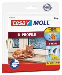 Tesamoll Gumové těsnění bílé na okna a dveře, D profil,