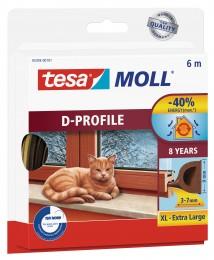 Tesamoll Gumové těsnění hnědé na okna a dveře, D profil,