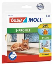 Tesamoll Gumové těsnění bílé, na okna a dveře, E profil,