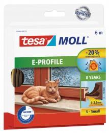 Tesamoll Gumové těsnění hnědé, na okna a dveře, E profil