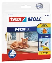 Tesamoll Gumové těsnění bílé, na okna a dveře, P profil,