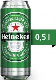 Heineken pivo světlý ležák plech