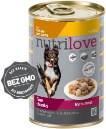 Nutrilove dog chunks, jelly CHICKEN NOODLES