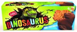 LOTUS Dinosaurus sušenky polomáčené v mléčné čokoládě (2x4ks)