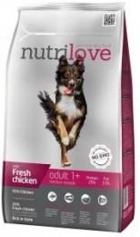 Nutrilove dog dry ADULT M fresh chicken granule pro dospělé psy středních plemen