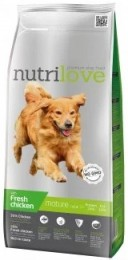 Nutrilove dog dry SENIOR 7+ fresh chicken granule pro starší psy