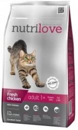 Nutrilove cat dry ADULT fresh chicken granule pro dospělé kočky
