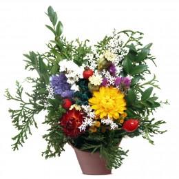 Vypichovaný květináč, Ø aranžmá 11cm