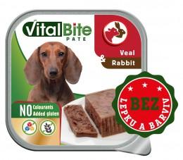 VitalBite vanička masové kousky s telecím a králičím
