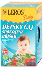 LEROS Baby Dětský čaj Spokojené bříško 20x2g,