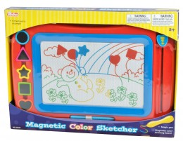 Teddies Magnetická tabulka barevná + razítka
