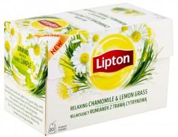 Lipton Relaxing Chamomile & Lemon Grass bylinný čaj