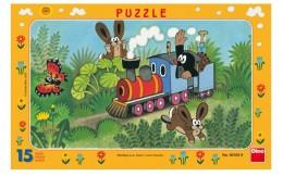Dino Puzzle deskové Krtek a lokomotiva