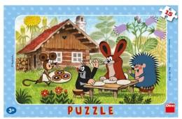 Dino Puzzle deskové Krtek na návštěvě