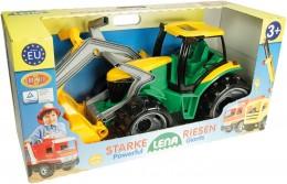 Lena Traktor se lžící a bagrem plast zeleno-žlutý