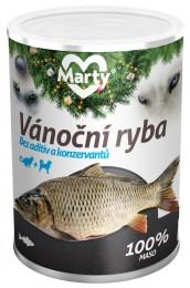 Marty konzerva pro psy a kočky ze 100% masa - vánoční ryba
