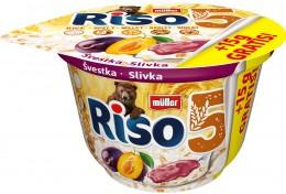 Müller Riso 5 vícezrnná mléčná rýže se švestkovou složkou + 15% Zdarma