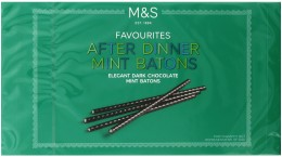 Marks & Spencer Tyčinky z hořké čokolády s mátovou náplní