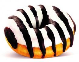 Mini bílý donut s tmavými proužky