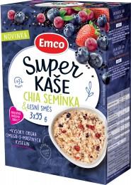 Emco Super kaše Chia semínka a lesní směs 3x55g