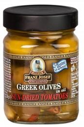 F.J.Kaiser Olivy zelené řecké plněné sušenými rajčaty