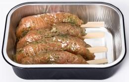 Fishee's Losos špízy marinované chlazené z ekofarmy ASC