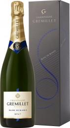 Champagne Gremillet Brut Blanc de Blancs dárkové balení
