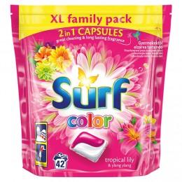 Surf Color Tropical 2v1 kapsle na praní 42ks