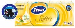 Zewa Softis Soft&Sensitiv papírové kapesníky 4vrstvé 10x9ks